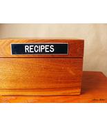 Vintage Stanley Canada Wooden Recipe Box Mid Century Modern Retro Kitche... - $35.99