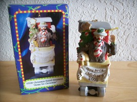 "2000 Emmett Kelly JR. ""Home for the Holidays"" Ornament - $25.00"