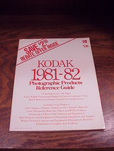 Kodak 1981 1982 Photographic Products Reference Guide Book, no. R-50 - $5.95