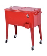 Red Portable Outdoor Patio Cooler Cart - $188.00