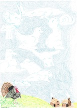 11x14 The Turkey's Wish Print Only - $20.00