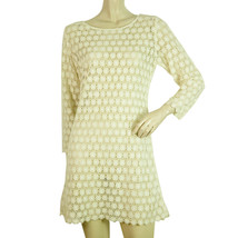 Cotton Broderie Ecru Off White Cover Up Beach Holiday Mini Dress - $69.30