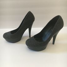 Jessica Simpson Gracex Gray Wool Round Toe Platform Pumps Heels Size 7.5 M  image 5
