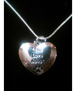 """""""Live Love Adopt"""" Sterling Silver Heart Pendant Necklace - $8.99"""