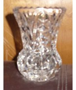 Zajecar Yugoslavian Lead Crystal Vase / Toothpick Holder - $19.00