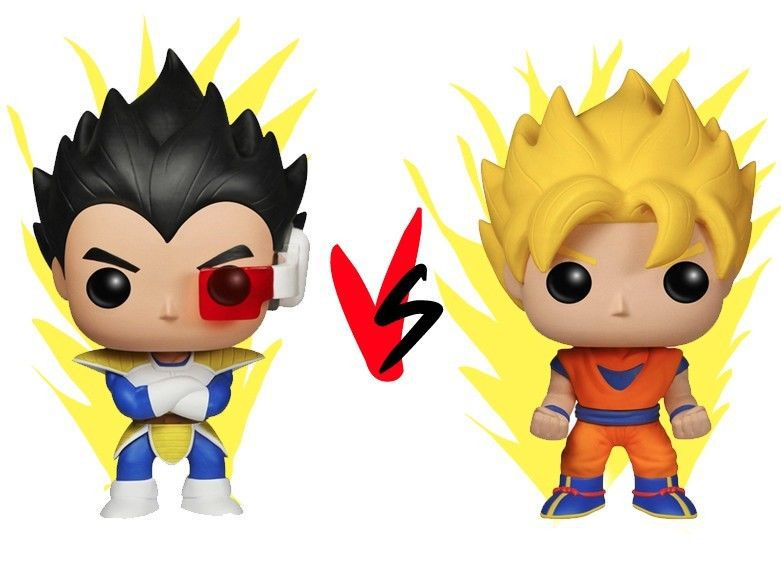 Funko Pop Manga Dragon Ball Z Goku, Vegeta Super Saiyan Vinyl Figure Set