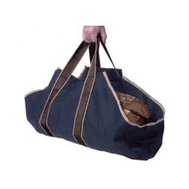 Handbag Wood Canvas Tote Log Tote Carrier Satch... - $31.30