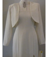 White Gown With Rhinestones And Jacket  Size 11-12 - $53.00