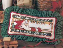 Christmas Cross Stitch Crafts Celebrations Santa Stockings Bears Pilgrims Angels - $7.98