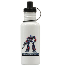 Transformers Optimus Prime Personalized Custom Water Bottle, Add Childs Name - $19.99