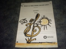 What Is This Thing Called Love Sheet Music Satb and Piano 1975 [Sheet music] ... - $15.62