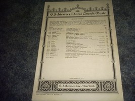 Fear Not I Am With Thee Sheet Music (G Schirmers Choral Church Music) By Will... - $15.57