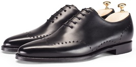 New Handmade Men Brogue Leather Shoes, Men Classic Black Leather Shoes - $149.99