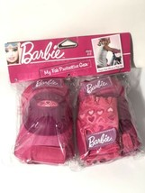Barbie My Fab Protective Gear Knee + Elbow Pads + Gloves Girls 4-8 Bell Bike Set - $44.54