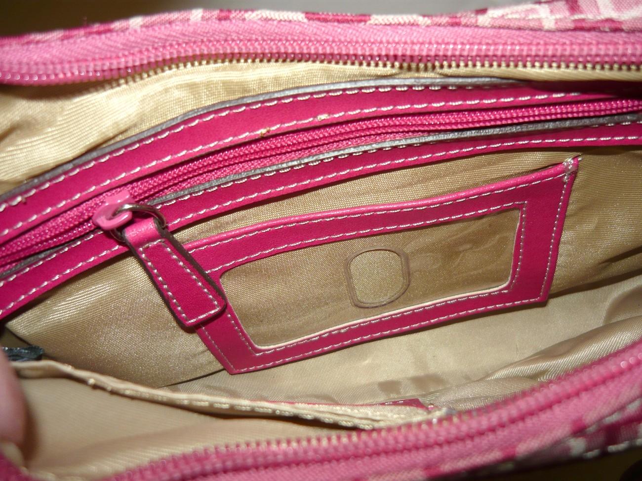 Nine West  Pink Print  Organizer  Handbag  with  Cell Phone  Carrier