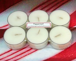 Peppermint PURE SOY Tea Lights (Set of 6) - $5.00