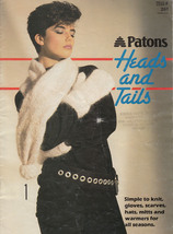 Patons #261 Heads & Tails Simple Knit Patterns Gloves Scarves Hats Mitts Warmers - $7.98