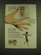 1966 Knox Gelatine Drink Ad - Can make nails beautiful - $14.99