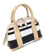 COACH 30172 Bleeker STRIPED MINI PRESTON SATCHEL ~ Striped PVC & Leather~New/NWT