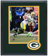 Jordy Nelson 2014 Green Bay Packers -11 x 14 Team Logo Matted/Framed Photo - $43.55
