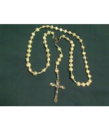 Rosary - White Freshwater Pearl - LR-7 - $33.99
