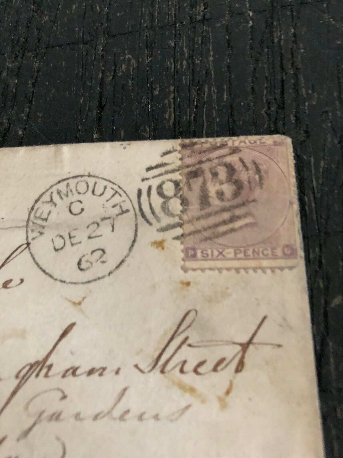 1862 December Jan 1963 Great Britain Cover Weymouth London to Nova Scotia