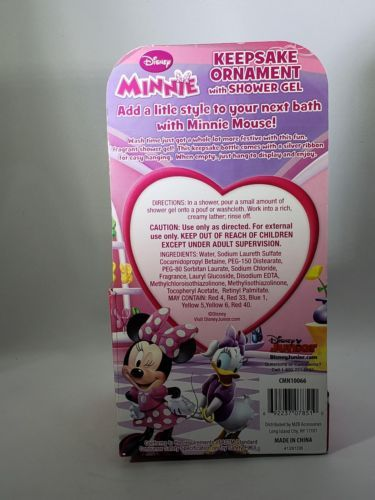 Disney Minnie Mouse Keepsake Ornament With Shower Gel - Strawberry Scented