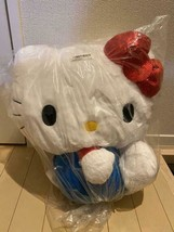 Hello Kitty 45th Anniversary Super Big Plush doll Sequin ribbon SANRIO 13in - $58.99