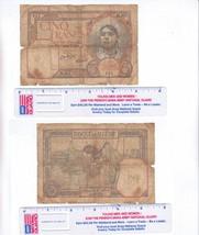 ALGERIA 1941 5 FRANCS BANK NOTE WW II ERA HEAVILY CIRCULATED - $5.00