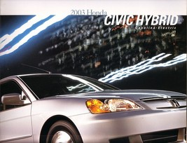 2003 Honda CIVIC HYBRID sales brochure catalog 03 US - $8.00