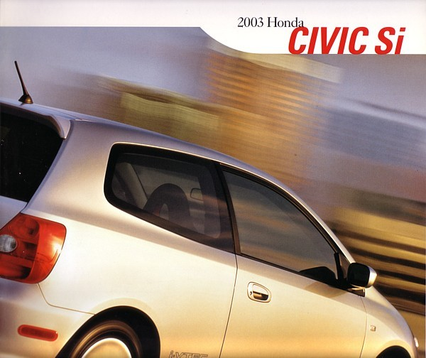 2003 Honda CIVIC Si sales brochure catalog 03 US hatchback