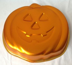 Wilton Jack O Lantern Cake Pan Pumpkin Halloween Anodized Aluminum Mold ... - $14.95