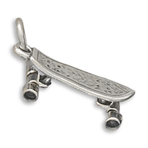 Sterling Silver Moveable Skateboard Charm - $17.95
