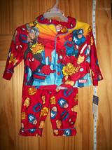 Spiderman Baby Clothes 12M Red Sleepwear Outfit PJ Superhero Pajama Pant Set New - $16.14