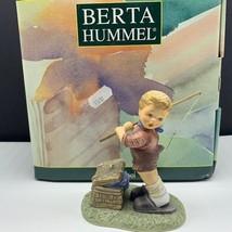 Goebel MJ Hummel club figurine germany box coa BH118 fishing for trouble... - $67.32