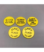 Vintage Clair's Place Ashville Pensione Pennsylvania Plastica Bere Token... - $35.65