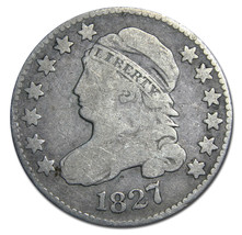 1827 Capped Bust Dime 10¢ Coin Lot# MZ 2956
