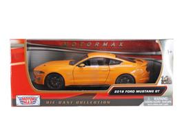 2018 Ford Mustang GT 5.0 Orange with Black Wheels 1/24 Diecast Model Car... - $32.98