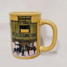 Old West Main Street Coffee Mug Cup 14 oz 1980 Enesco Stagecoach Saloon Stable - $14.99