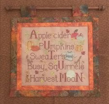 Autumn Things cross stitch chart Waxing Moon Designs - $7.20