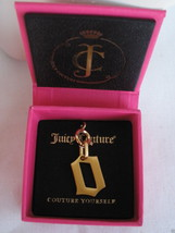 "NEW NWT $32 Juicy Couture Couture Yourself ""O"" Charm Brushed Gold Tone - $16.99"