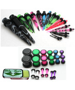 36pc Ear Stretching Kit Tapers Plugs 00g 0g 2g 4g 6g 8g 10g 12g 14g gaug... - $33.99
