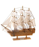 lifelike model schooner HMS Victory collectible  - $34.69