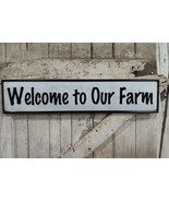 Welcome to Our Farm Metal Sign Vintage Style Embossed Sign - $29.69