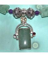 Calcite, Amethyst, Garnet and Citrine Necklace - $85.00