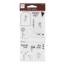 Fiskars Heidi Grace Tags & Words Clear Stamps 2... - $4.50