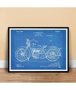 HARLEY DAVIDSON 1928 MOTORCYCLE POSTER Blueprint US Patent Poster Print ... - $29.97