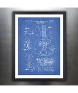 FENDER PRECISION BASS GUITAR POSTER Blueprint 1961 US Patent Print 18x24... - $29.97