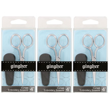 Gingher Curved Embroidery Scissors, 4 Inch, Chr... - $54.99