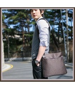 PU Leather Unisex Computer Laptop Messenger Travel Shoulder Tote Bag in ... - $32.95